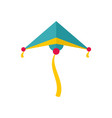 sky blue kite icon flat style vector image