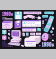 sticker pack retro pc elements old computer