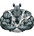 Strong rhinoceros athlete vector image vector image