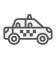 taxi line icon transportation and auto cab sign vector image vector image