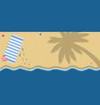 top view of sea coast ocean seaside golden sand vector image vector image