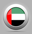 united arab emirates flag metal round button vector image vector image