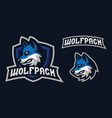 wolf mascot logo design vector image vector image