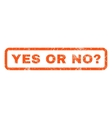 Yes Or No Question Rubber Stamp vector image vector image