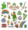 ireland irish saint patrick holiday with vector image