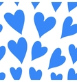 Blue heart seamless pattern vector image