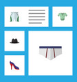 flat icon dress set of underclothes heeled shoe vector image