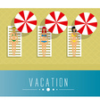 Girls on vacation vector image