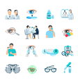 1601i050001Pm003c26oculist flat icons vector image vector image