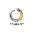 abstract circle business company logo vector image