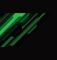 abstract green grey cyber geometric slash on dark vector image vector image