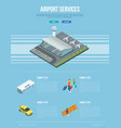 airport services banner vector image