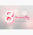 awesome womens day wallpaper design vector image vector image