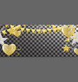 balloons confetti and streamers vector image vector image