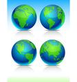 Blue Earth balls vector image