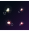 bright star on a dark background vector image
