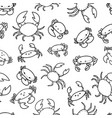cartoon crab vector image