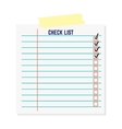 Clipboard document checklist test vector image