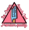 Color vintage Ice Cream emblem vector image vector image