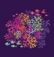 coral reefs color vector image