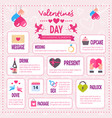 creative valentines day infographic set of vector image