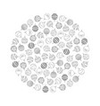 decorative round from christmas tree ball toy vector image vector image