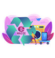 e-waste reduction concept vector image