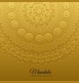 ethnic mandala art decoration background vector image vector image