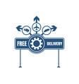 free delivery emblem design vector image vector image