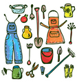 gardening tools pattern vector image vector image