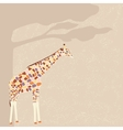 Giraffe card vector image