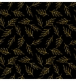 Gold glitter herb pattern vector image
