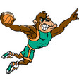 gorilla sports basketball logo mascot vector image vector image