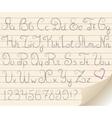 gray alphabet vector image vector image