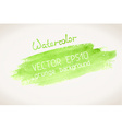 green watercolor blobs vector image vector image