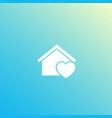 home with heart logo design icon vector image vector image