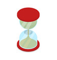 hourglass isolated isometric 3d icon vector image