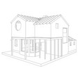house structure architecture abstract drawing vector image