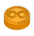 infinitecoin cryptocurrency stack icon vector image