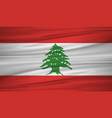 lebanon flag flag of lebanon blowig in the wind vector image