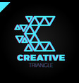 letter c creative triangle color logo design vector image vector image
