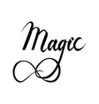 magic lettering text vector image vector image