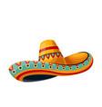 mexican sombrero tradition hat icon vector image