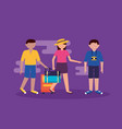 people and travel flat design vector image vector image