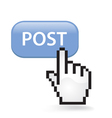 Post Button vector image vector image