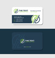 power plant operator business card vector image vector image