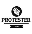 protester leaflet logo simple black style vector image vector image
