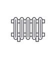 radiator line icon concept radiator linear vector image vector image