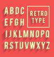 Retro poster alphabet vector image