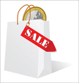 sale and the euro in the bag vector image vector image